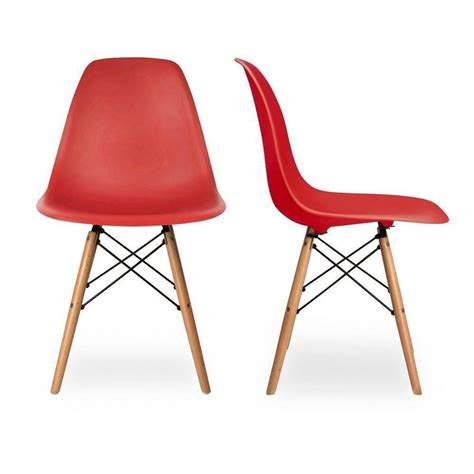 Dsw Dining Chair Charles Eames Eiffel Inspired Dsw Side Dining Chair Retro Classic Returns Ebay