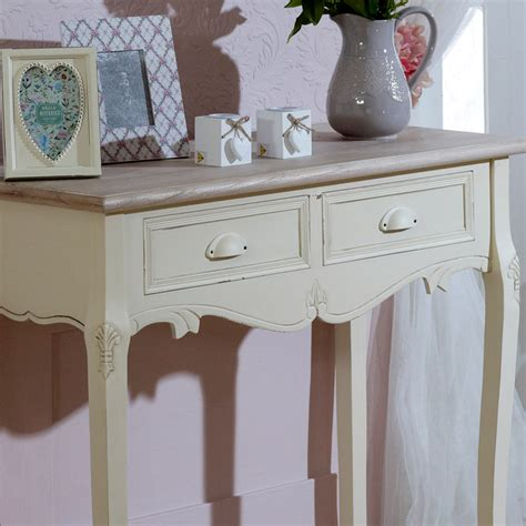 modern shabby chic console tables french bedroom company cream wooden console dressing table 2 drawers shabby