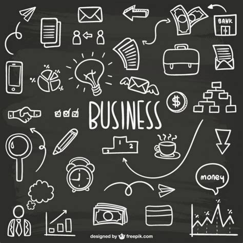 Business Doodles Collection Vector Free