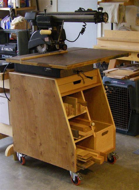 radial arm saw bench radial arm stand by lad lumberjocks com woodworking
