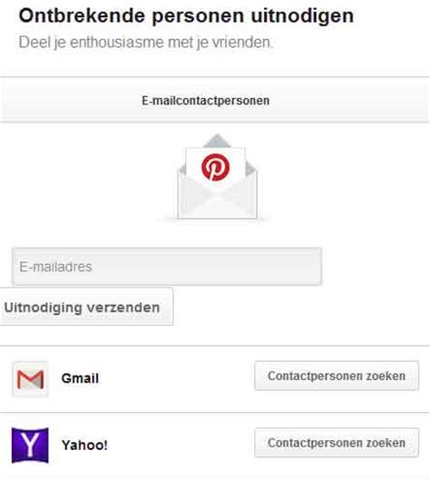 yahoo email zoeken pinterest gebruik vrienden zoeken uitnodigen internet
