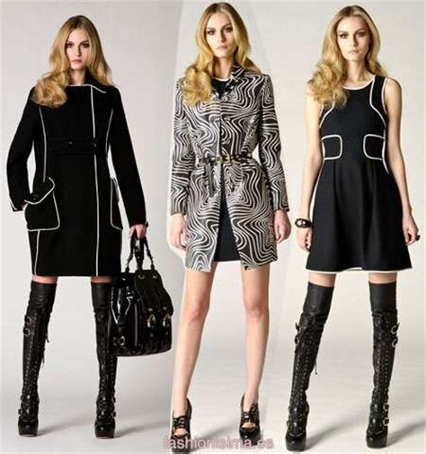 top fashion trends of 2009 graphic fashion silhouettes bold and beautiful in versace pre fall 2009