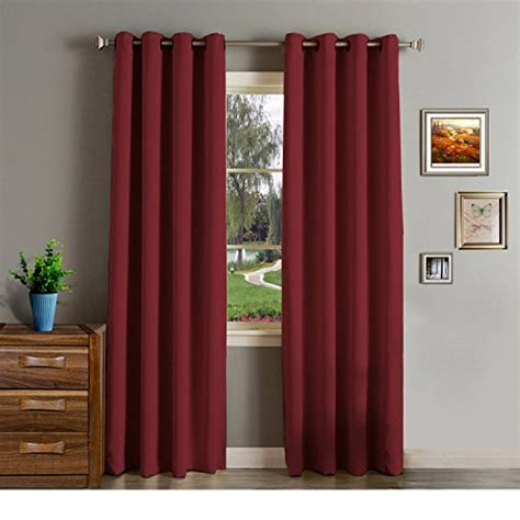 burgundy curtains bedroom onlycurtain 2 panels thermal insulated blackout curtains