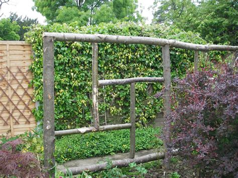 Rustic Trellis new nieghbours new fence and eye saws gardening forum gardenersworld