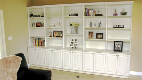 built in white bookcases custom home media center designs closets