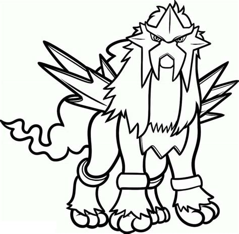 pokemon coloring pages raikou download pokemon coloring pages entei