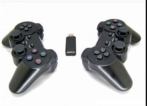 Joystick Usb Wireless 2 pcs 2 4ghz black usb wireless shock gamepad controller joystick for pc laptop in gamepads from