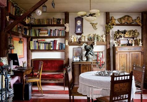 antique home interior colorful tale house with vintage furniture digsdigs