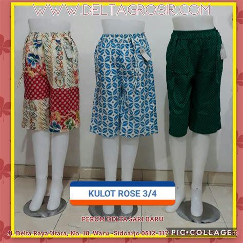 Grosir Celana Kulot Surabaya supplier celana kulot 3 4 wanita dewasa murah surabaya 27ribu