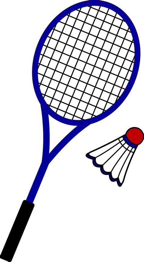 clipart badminton badminton racquet and birdie free clip