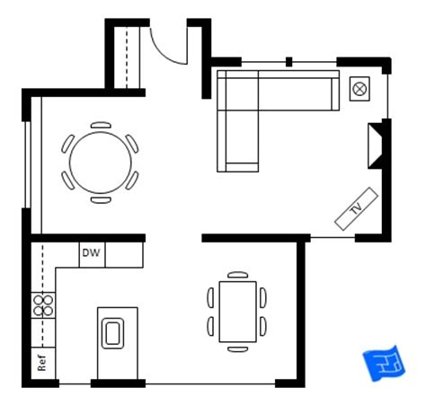 Dining Room Floor Plan by Dining Table Floor Plan Plans Free