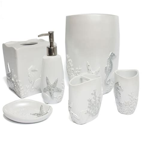 starfish bathroom accessories sea and starfish crafted bath accessory