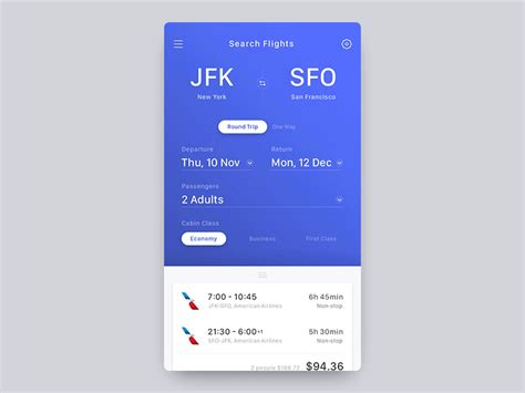 flight search app by mark dribbble flight booking app concept by jae seong jeong dribbble