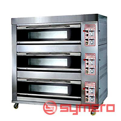 Oven Gas Termurah oven roti 3 deck 6 trays oven roti murah