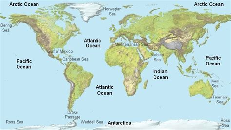 america map oceans what are the three oceans that border the continent