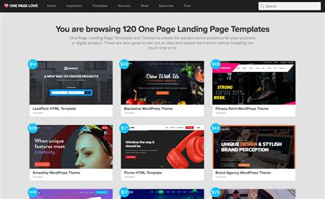 Landing Page With Template by Free Landing Page Templates