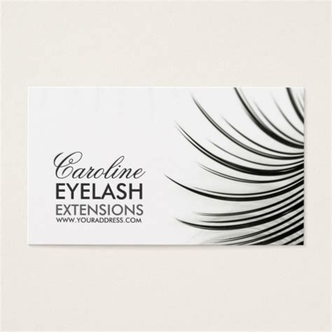 Eyelash Business Cards Templates by Eyelash Extension Business Cards Cnst Us