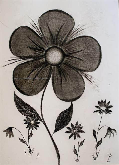 bloem tekenene houtskool tekenen workshops www costaworkshop