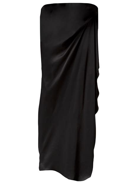 draped long skirt lanvin long asymmetric draped skirt in black lyst