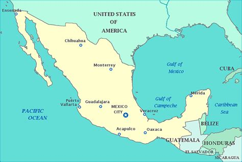 map united states and mexico mexico map gif images