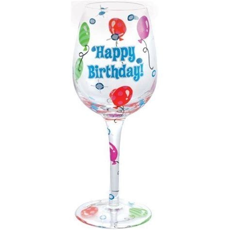 wine glass birthday westland giftware 9 inch happy birthday wine glass 15