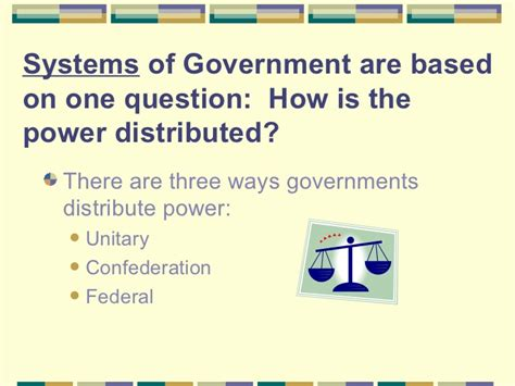 3 types of power unit 3 forms systems of government powerpoint