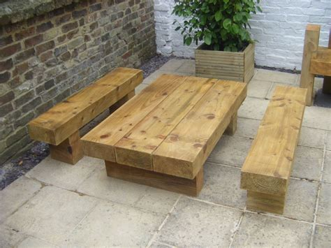 roy s garden furniture from new railway sleepers