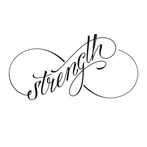strength infinity tattoo 25 best ideas about strength symbol on