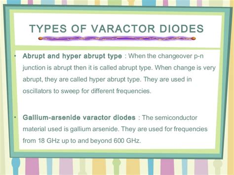 types of varactor diodes types of varactor diodes 28 images electronics kit diode image gallery varactor symbol the