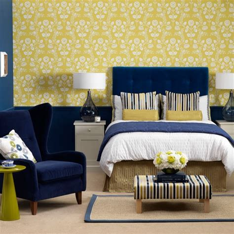 Beautiful Blue And Yellow Bedroom On Yellow Hotel Style Hotel Style Bedroom Furniture