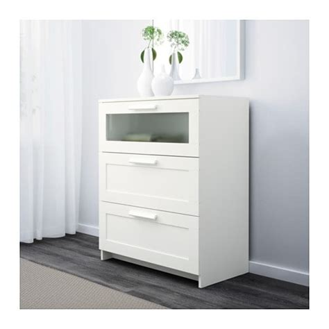 Ikea Commode Brimnes by Brimnes Commode 3 Tiroirs Blanc Verre Givr 233 Ikea