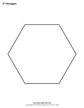 3 Inch Hexagon Template by Blank Hexagon Templates Printable Hexagon Shape Pdfs