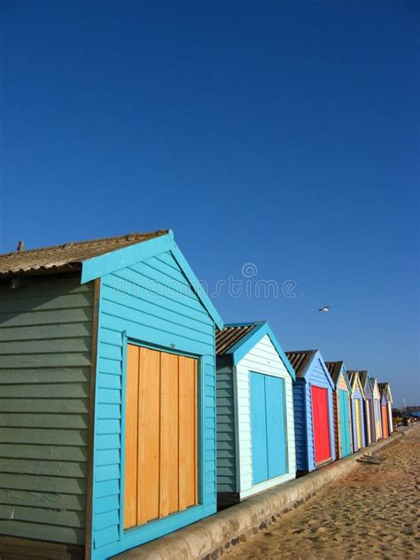 storage sheds   beach stock image image  buildings