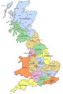 County Map Of England by Map Of Regions And Counties Of England Wales Scotland