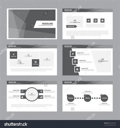 black white presentation template infographic elements