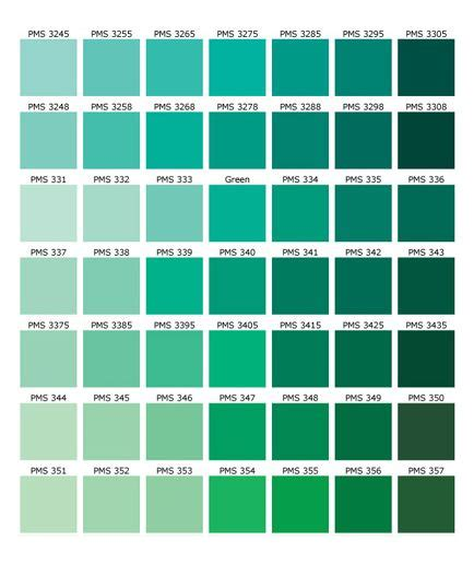green color names palette hue pantone shades of green color palette