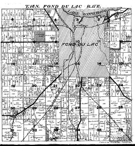 Fond Du Lac County Records 1862 Plat Map Fond Du Lac Co Wi