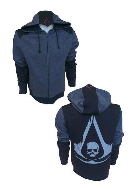 Hoodie Sweater Zipper Assasins Creed Cloth 4 buy clothing assassin s creed iv black flag hooded