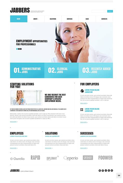 recruitment site template website template for recruitment sle of recruitment
