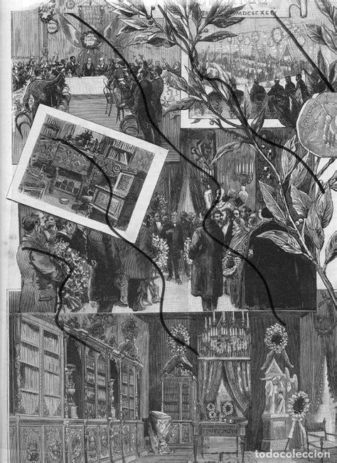 nuñez de arce 1894 homenaje hoja revista - Comprar