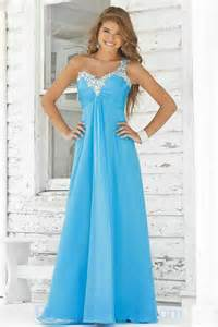 Buy tailor made one beaded shoulder chiffon nice prom dresses in new