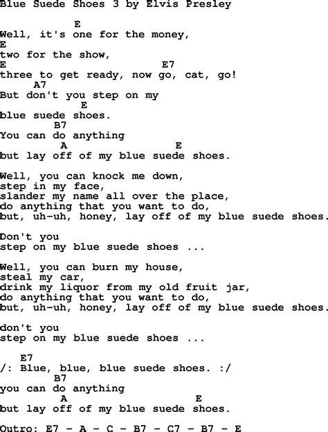 blue elvis song blue suede shoes 3 by elvis lyrics and chords