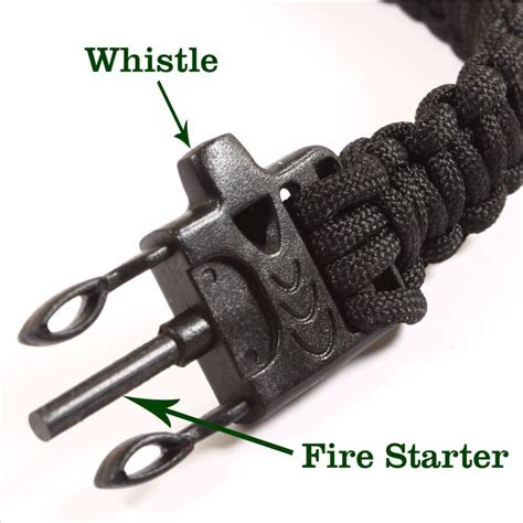 how to use flint starter paracord survival bracelet with magnesium flint