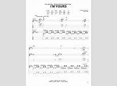 I'm Yours Guitar Tab by Jason Mraz (Guitar Tab – 67714) I M Yours Chords