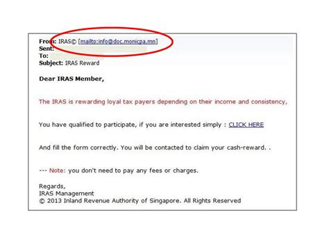 Report Phishing Letter Advisory On Scam Fraudulent Activities Iras