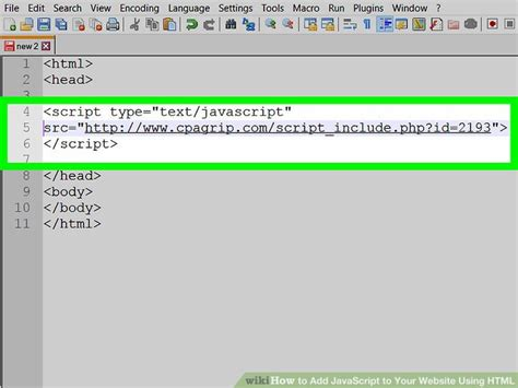 html tutorial how to insert image how to add javascript to your website using html with