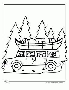 road trip c coloring page cing pinterest