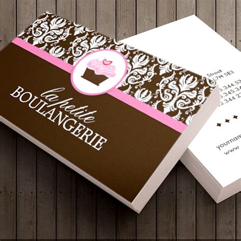business card template for bakery bakery business cards
