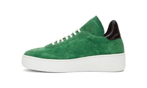 Offwhite I M His Sneaker Cde white officially releases green suede meadow sneakers