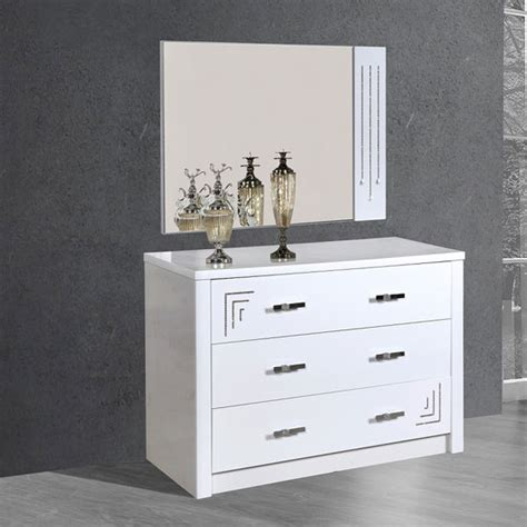gloss white dresser drawers cloral 3 drawer dresser and mirror in white gloss with diama